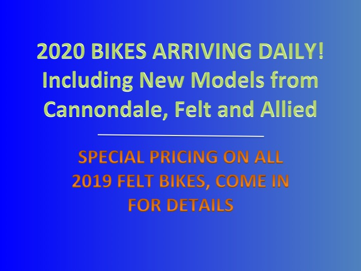 2020 Bikes Arriving Daily