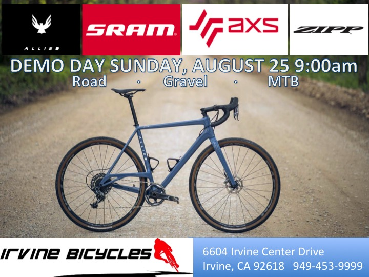 Allied and SRAM Demo Day Sunday 8/25